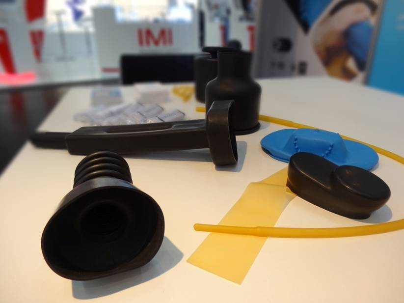 Some of the rubber components we manufacture