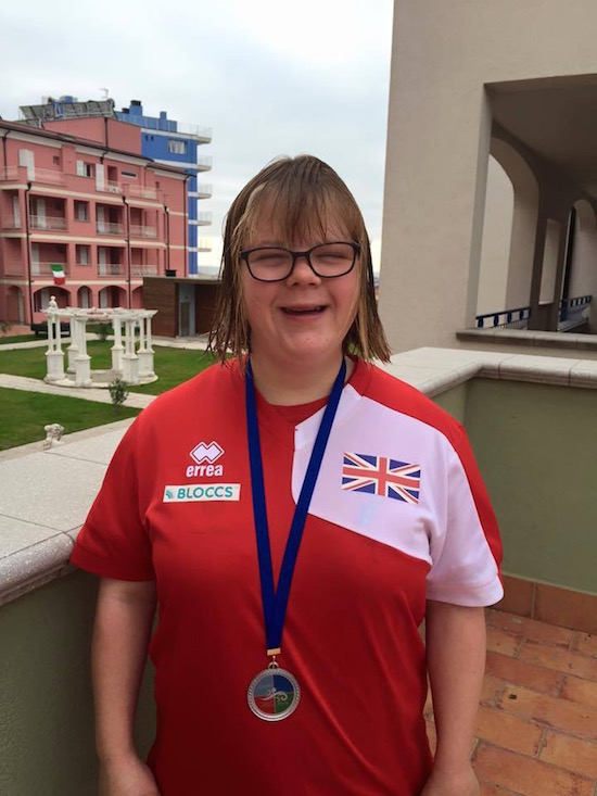 Alex Edwards, silver medal winner at the 2015 Down Syndrome Open European Swimming Championships