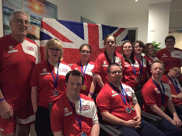 at the 2015 Down Syndrome Open European Swimming Championships