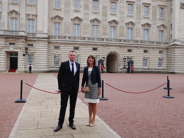 Precision Dippings Manufacturing's directors Douglas King and Kate Richards attended a reception at Buckingham Palace, hosted by The Queen and The Duke of Edinburgh for winners of the 2016 Queen's Awards for Enterprise